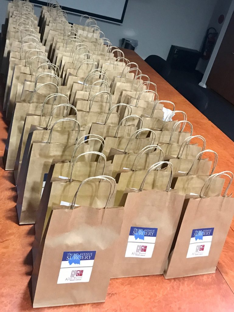 Patient take home Goodie Bags