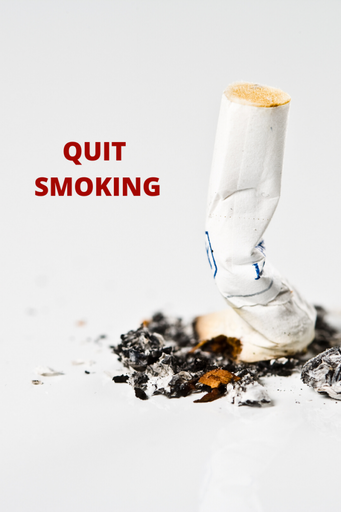 Quit smoking for heart health.